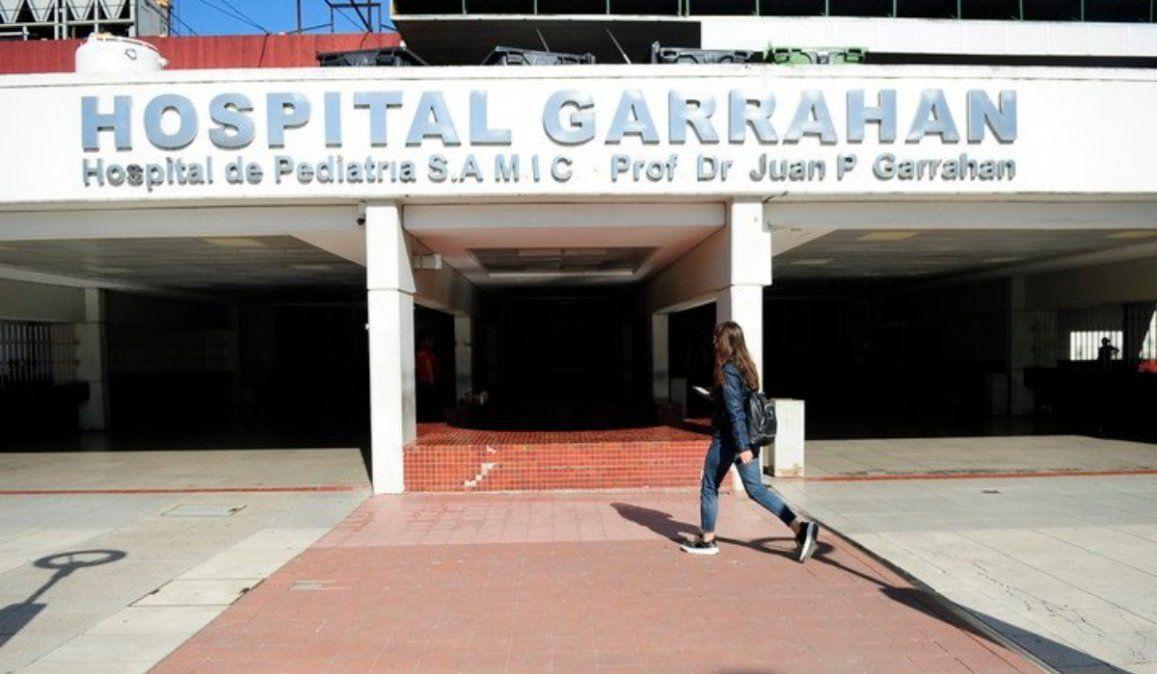 El Hospital Garrahan tiene una ocupación del 100% en las salas de niños con coronavirus