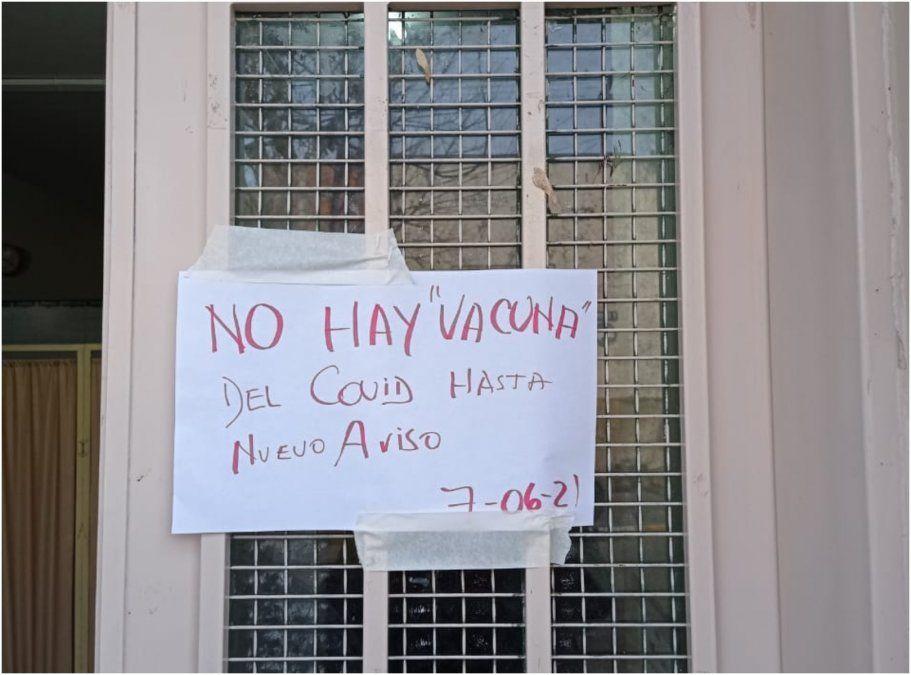 Vecinos de Cuyaya denuncian que no hay vacunas en el CAPS