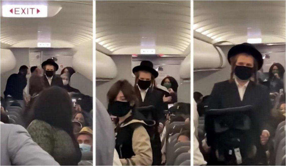 Aerolínea expulsa a pareja judía con un niño de un año sin mascarilla