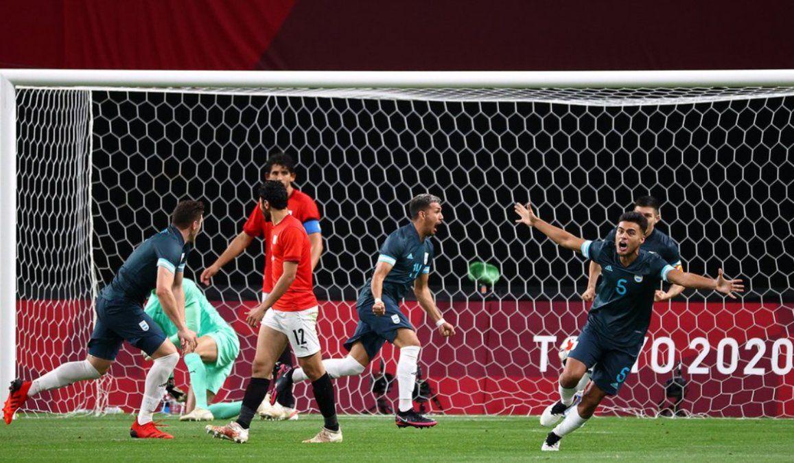 La Selección Argentina Sub 23 venció a Egipto y sumó su primera victoria