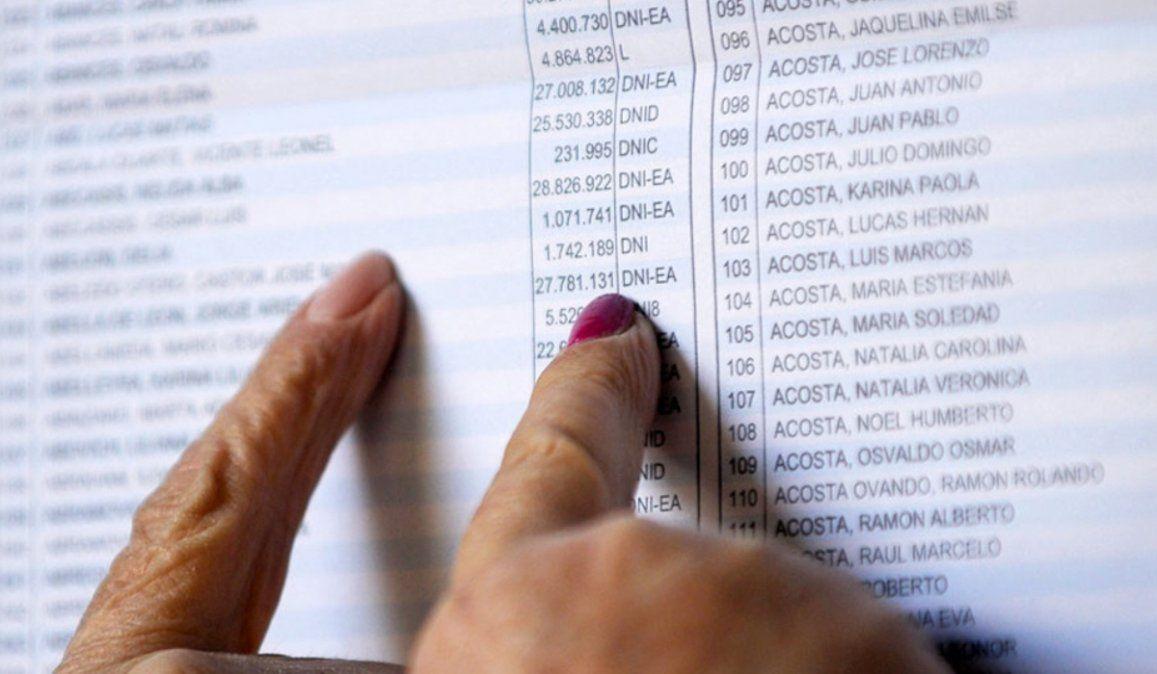CONSULTÁ EL PADRÓN: Uno de cada cuatro argentinos vota en un lugar diferente