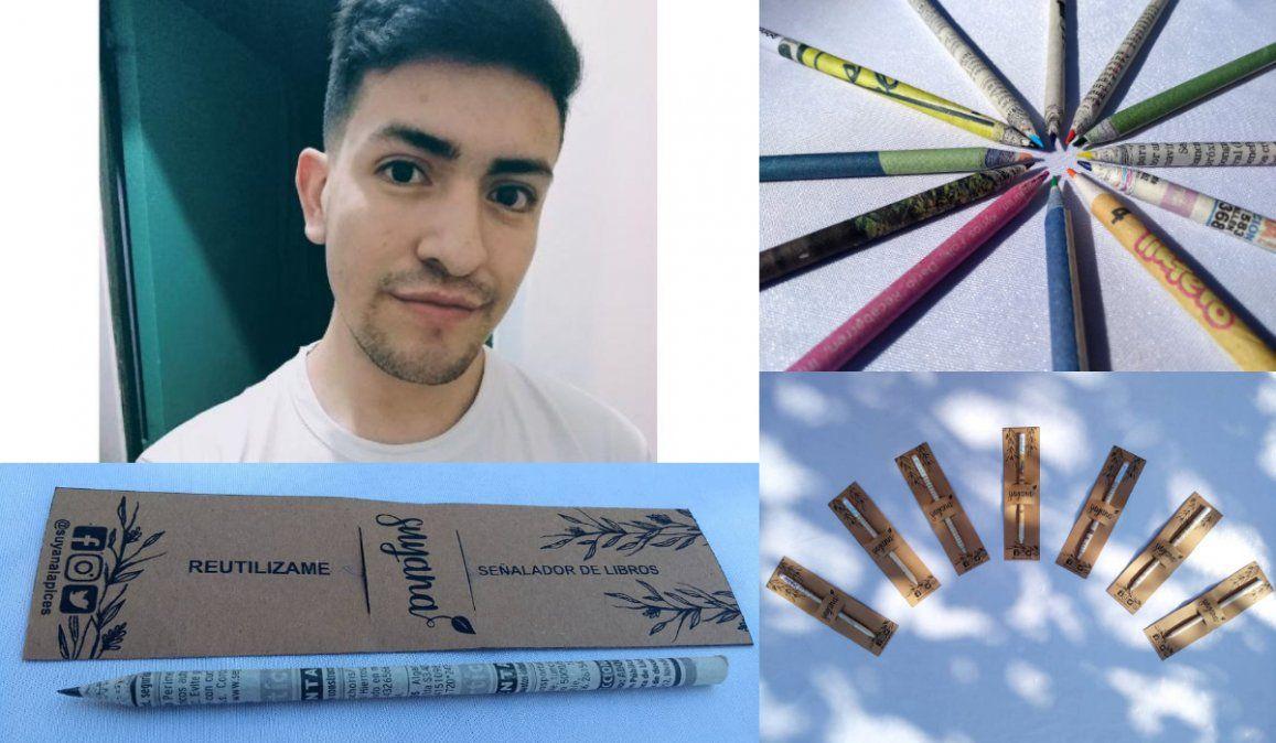 Lápices sustentables: un mendocino elabora lápices con material reciclado