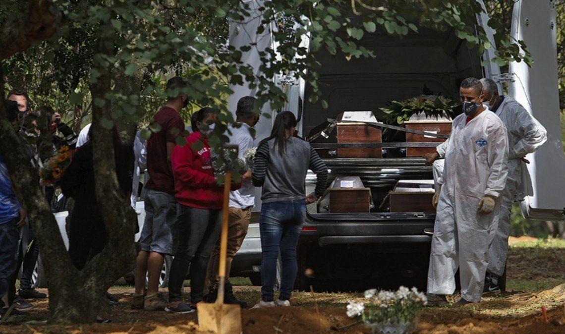 Brasil registró la mayor cifra de muertes en más de un mes