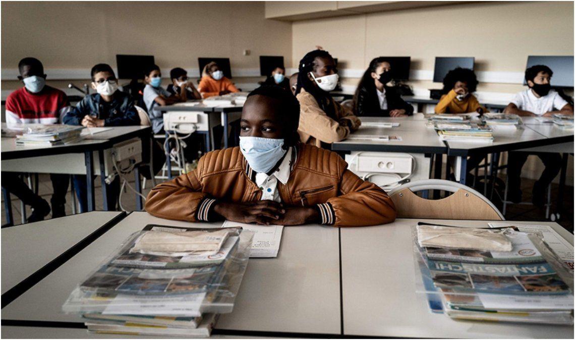 Por coronavirus, Francia cerró más de 80 escuelas en los primeros 15 días de clases