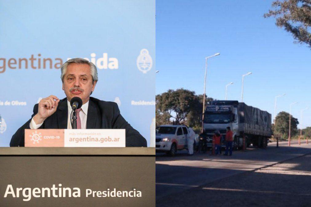 Alberto Fernández: los camioneros son un servicio esencial