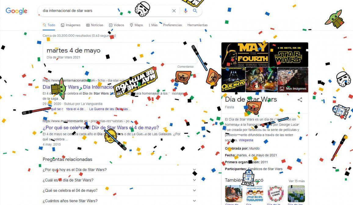 Mirá lo que pasa en google el día internacional de star wars