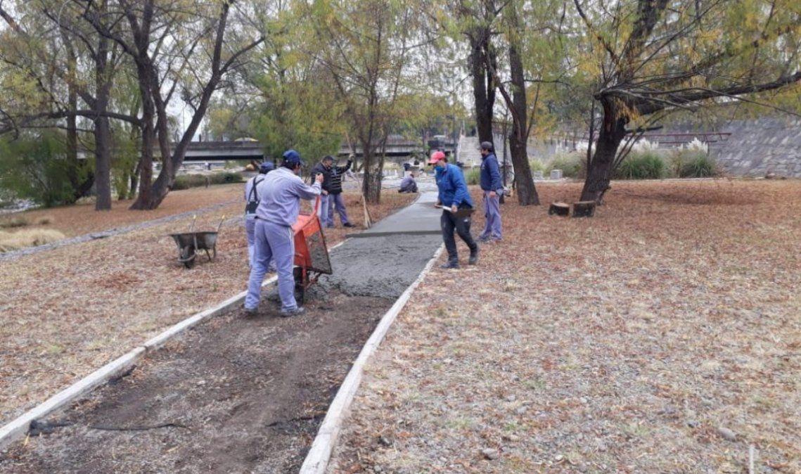 Amplían los circuitos de caminatas y bicisendas del Parque Xibi Xibi