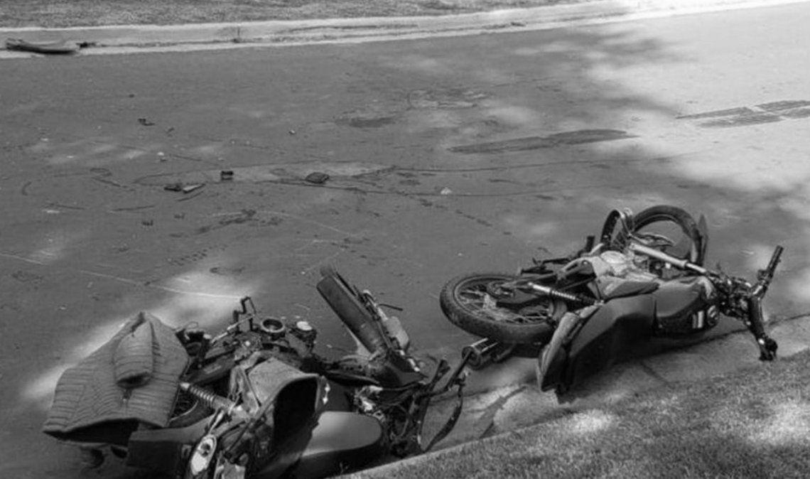 Choque de dos motos termina con un muerto