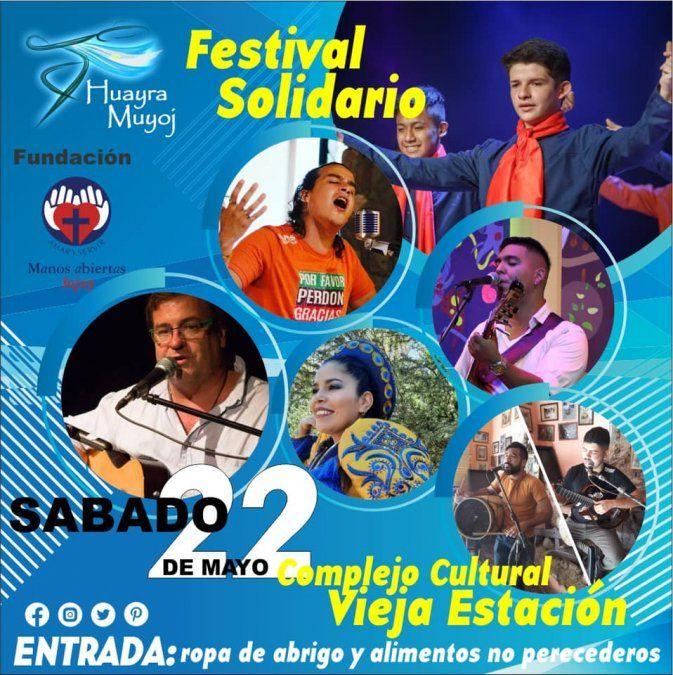 Invitan a un Festival Solidario a beneficio de Manos Abiertas
