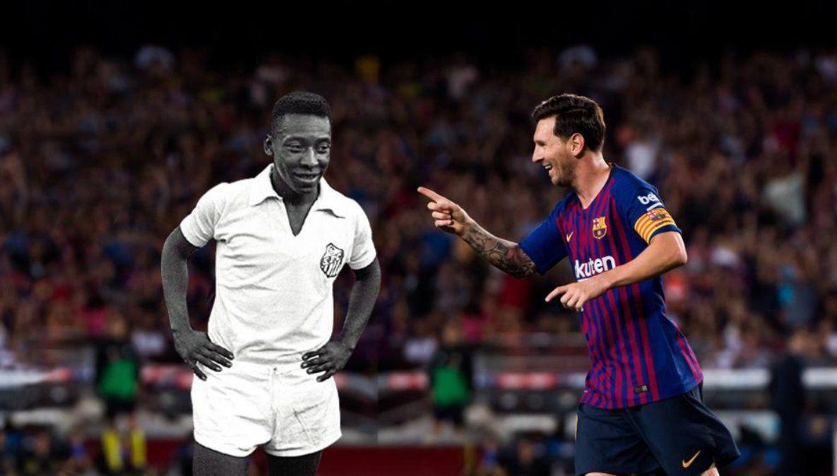Messi: a un gol de otro récord de Pelé