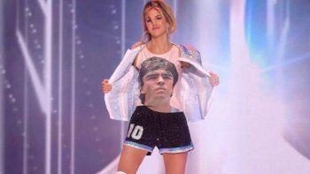Miss Universo homenajeó a Maradona