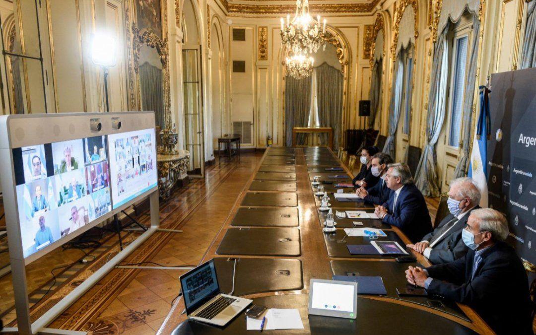 Coronavirus: Alberto mantuvo una videoconferencia con gobernadores