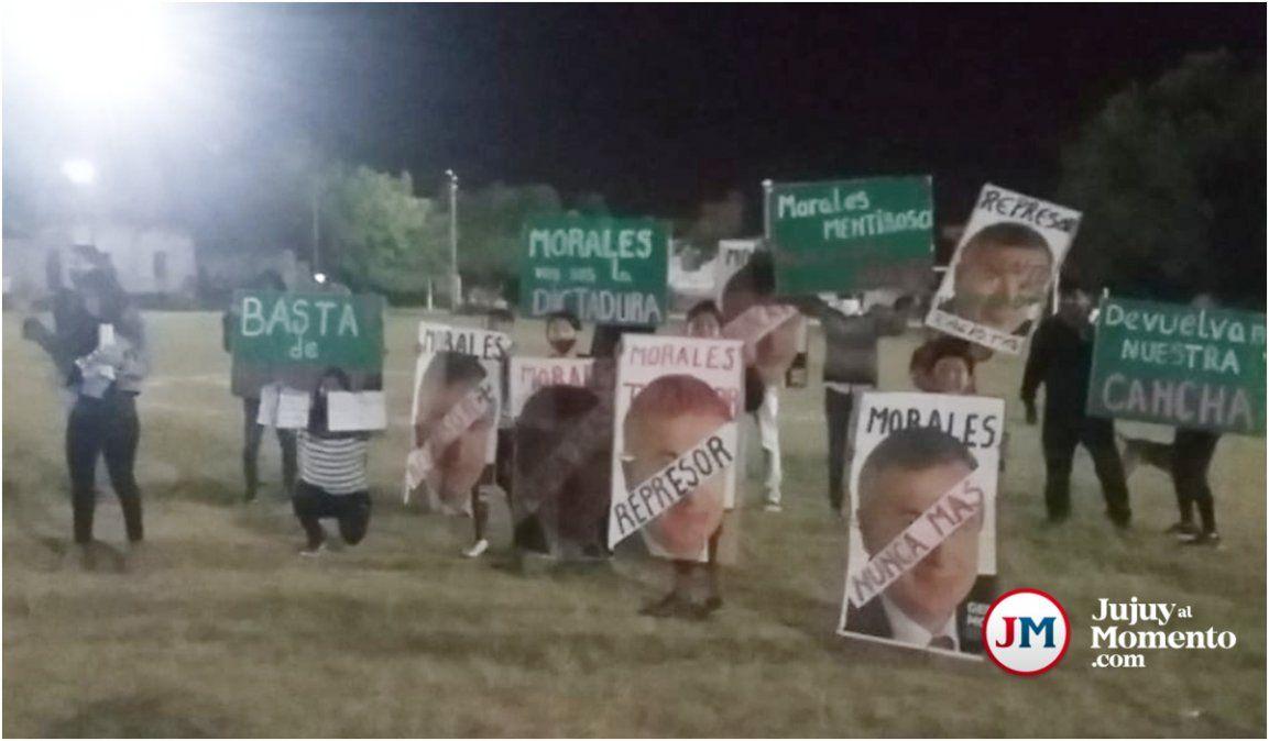 Morales volvió a Campo Verde para otra polémica inauguración y rodeado de policías