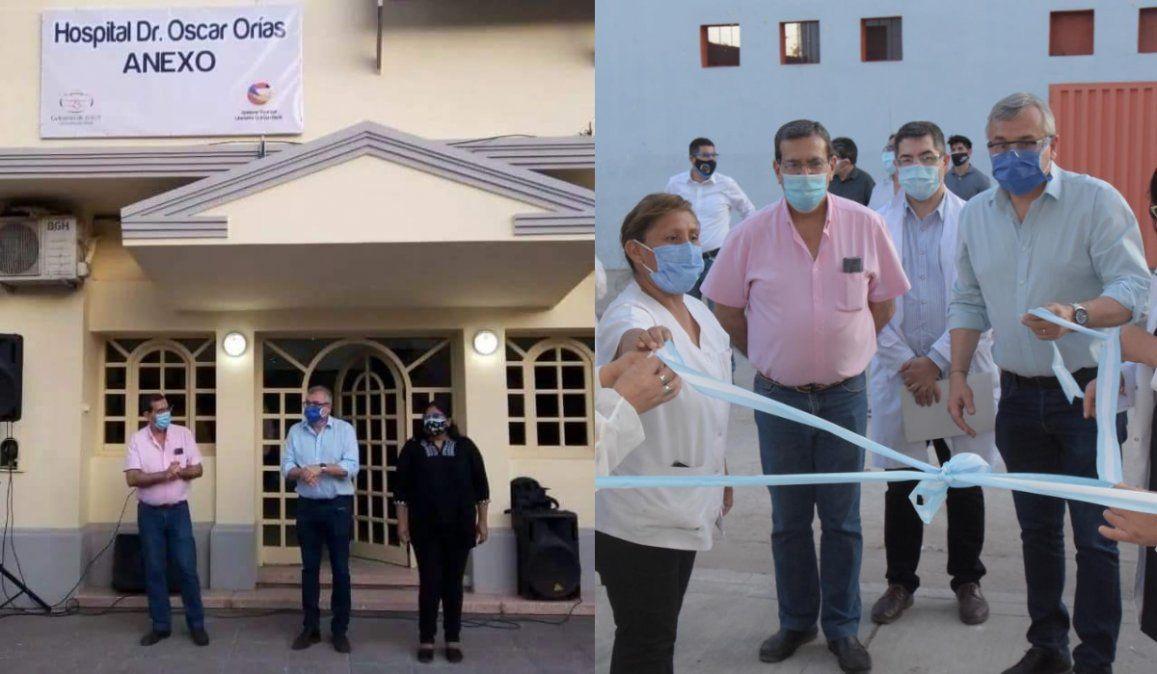 Acondicionaron una clínica, Morales la inauguró y ahora el dueño pide que la desalojen
