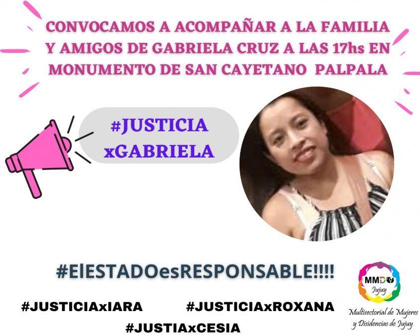 Convocan a marchar por Gabriela Cruz y un alto a los femicidios