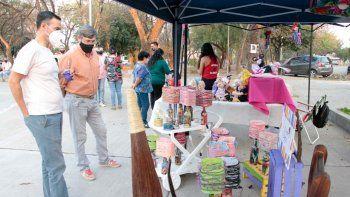 Patio de emprendedores en el Parque San Martín