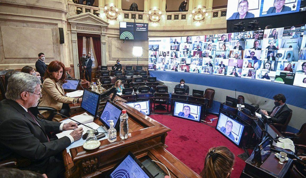La oposición en el Senado inpugnó las sesiones virtuales