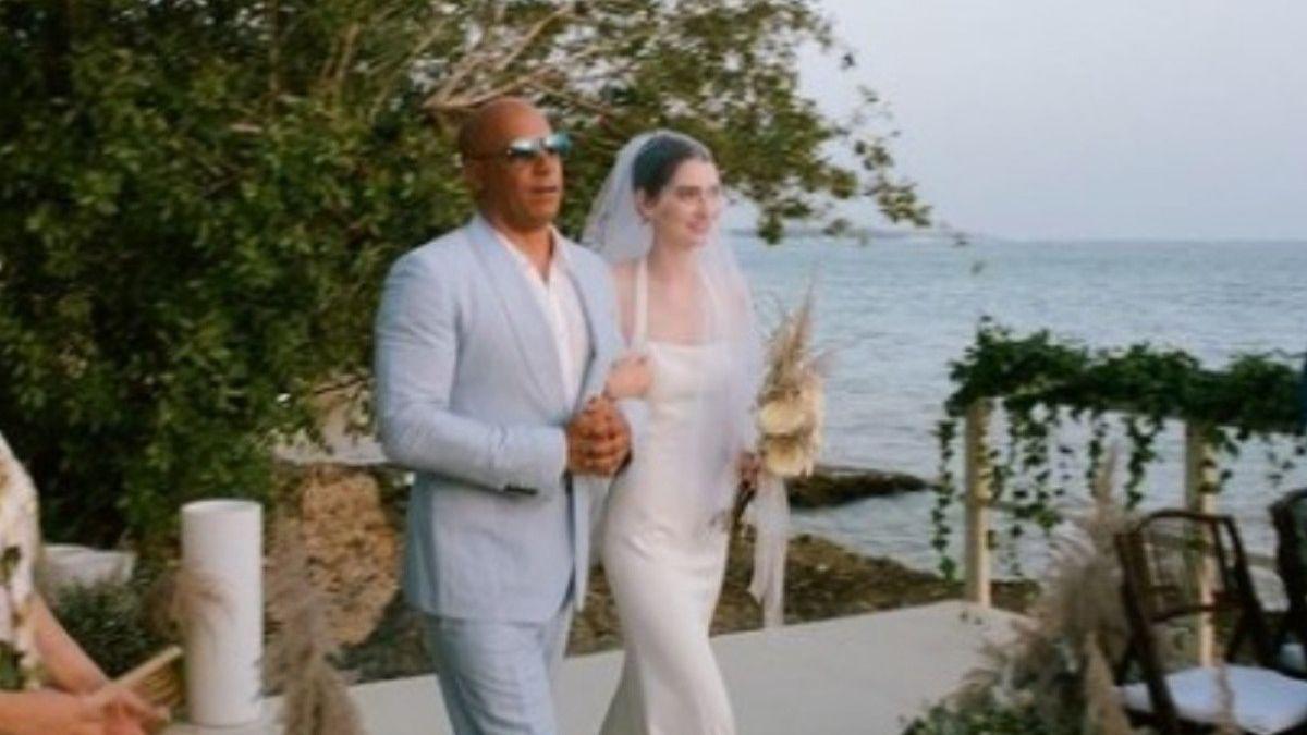 La hija de Paul Walker fue acompañada al altar por Vin Diesel en su casamiento