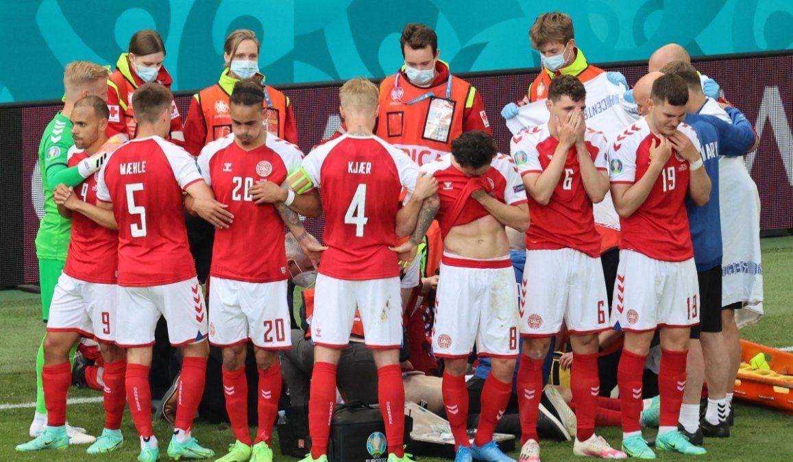 Conmoción en la Eurocopa: Eriksen se desvaneció y tuvo que ser reanimado con RCP