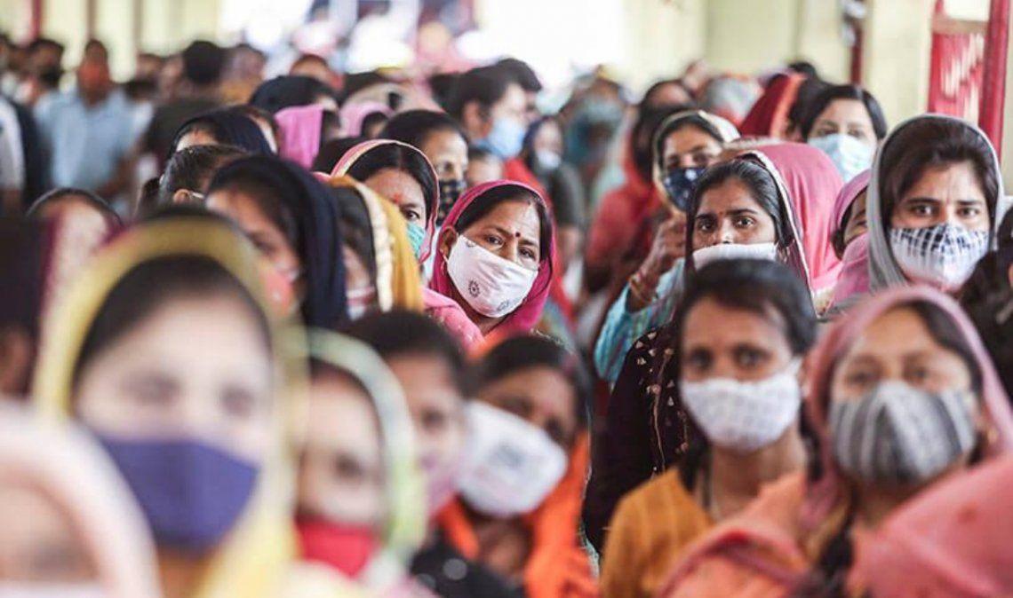 Por primera vez, India superó los 400.000 casos en un día