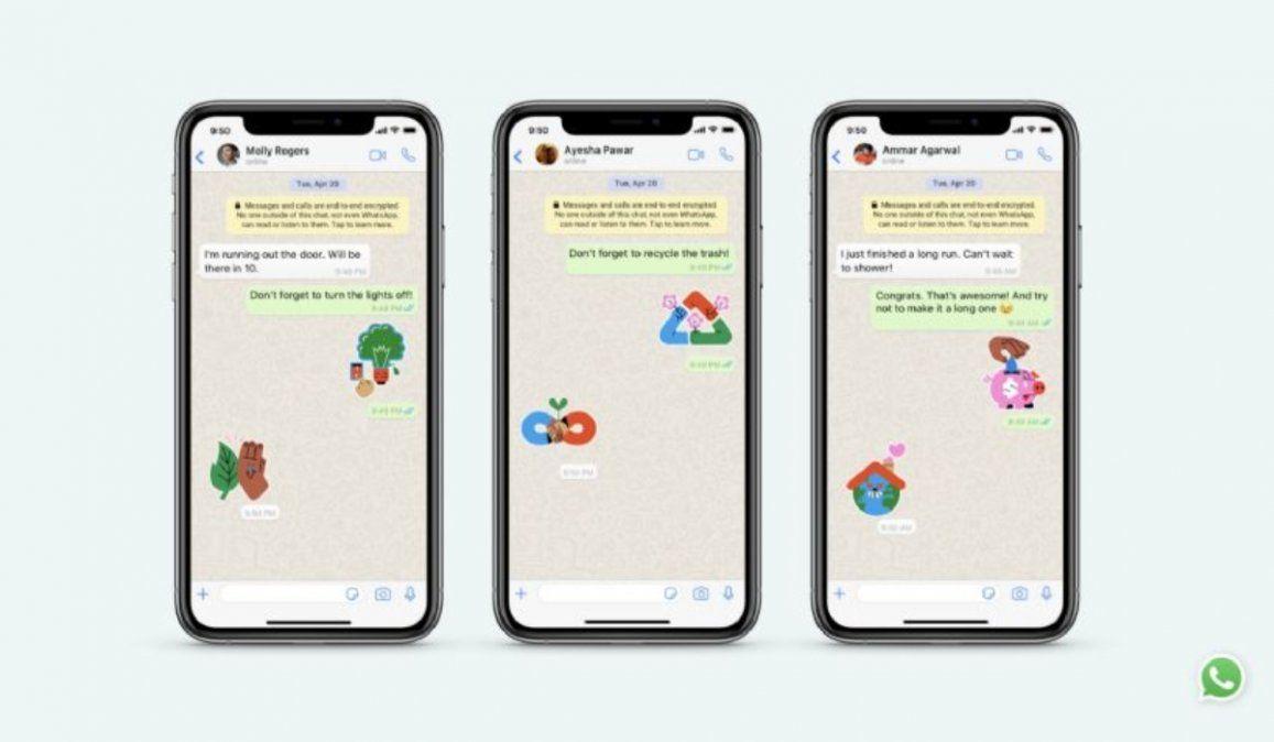 Estos son los nuevos stickers de Whatsapp que defienden la tierra