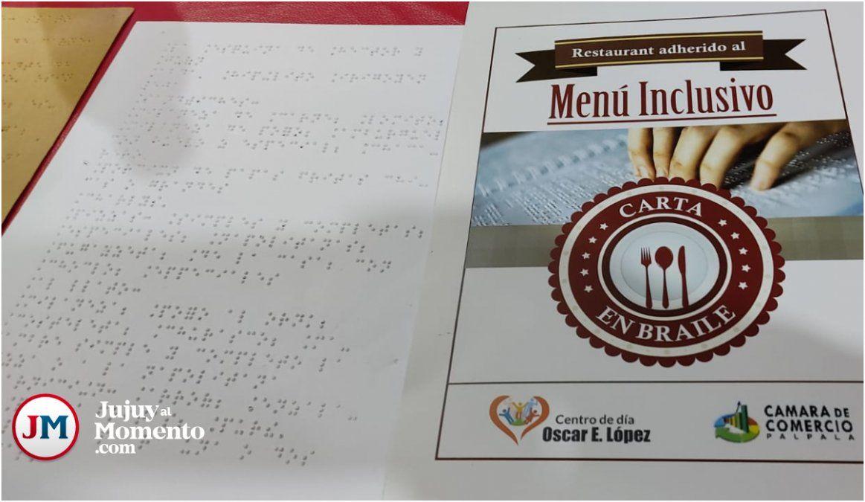 Inclusión: 15 comercios palpaleños ya cuentan con Menú en Braille