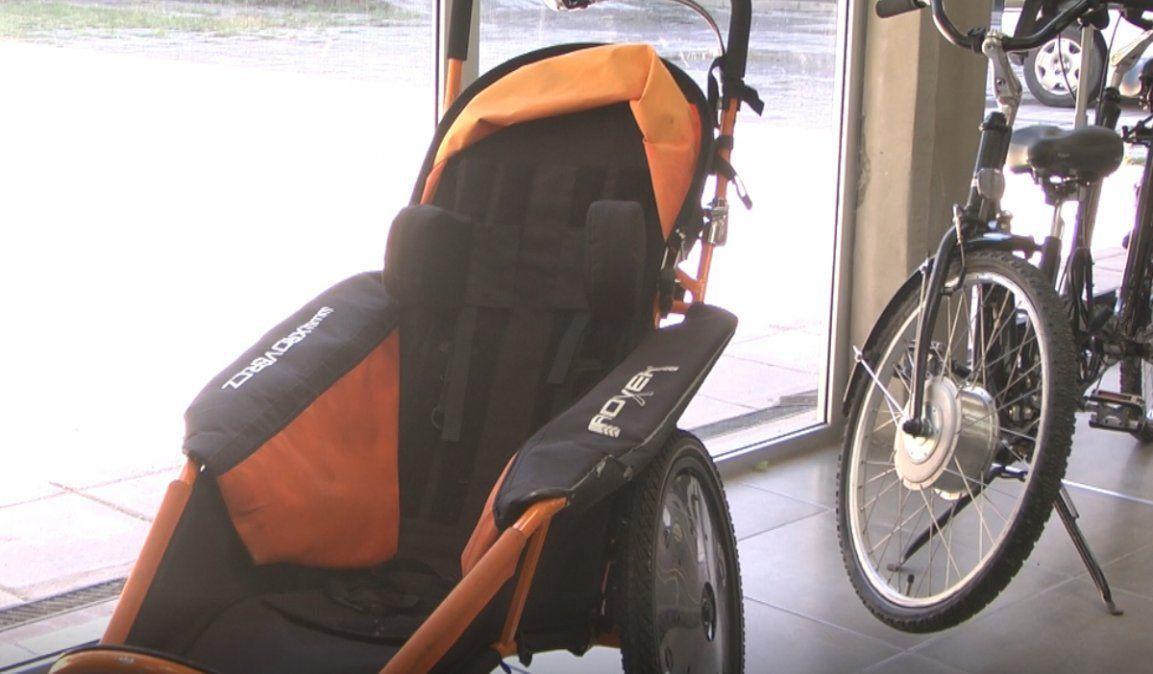 Colocaron bicicletas adaptadas de uso gratuito en el Parque Xibi Xibi