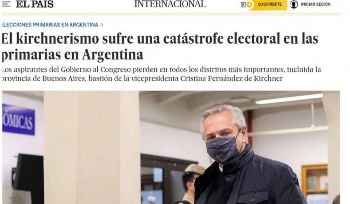 Los medios internacionales reflejaron la derrota de Alberto Fernández en las elecciones