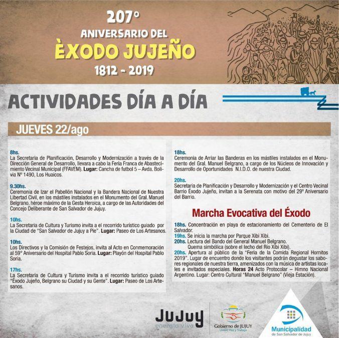 Jujuy conmemora los 62 años de la primera Marcha Evocativa