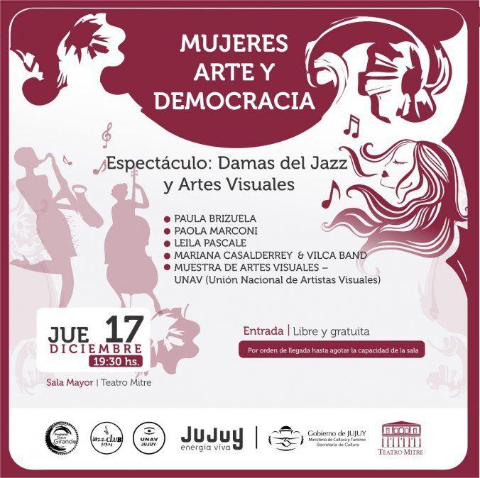 El Teatro Mitre invita al espectáculo Damas del Jazz y Artes Visuales