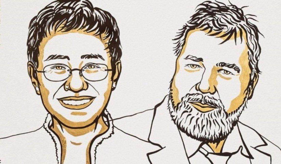 Premio Nobel de la Paz a dos periodistas que luchan por la libertad de expresión