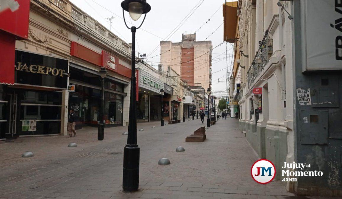 Feriado con escaso movimiento en el centro capitalino