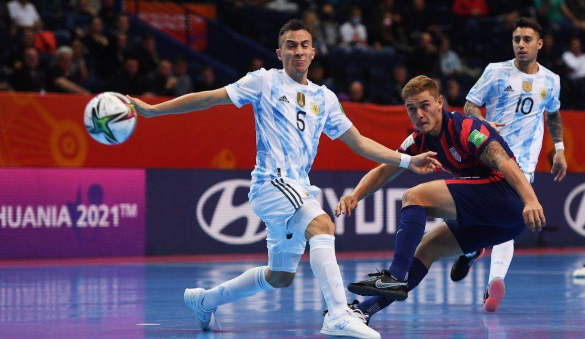 La Selección de futsal debutó con una goleada histórica en el Mundial