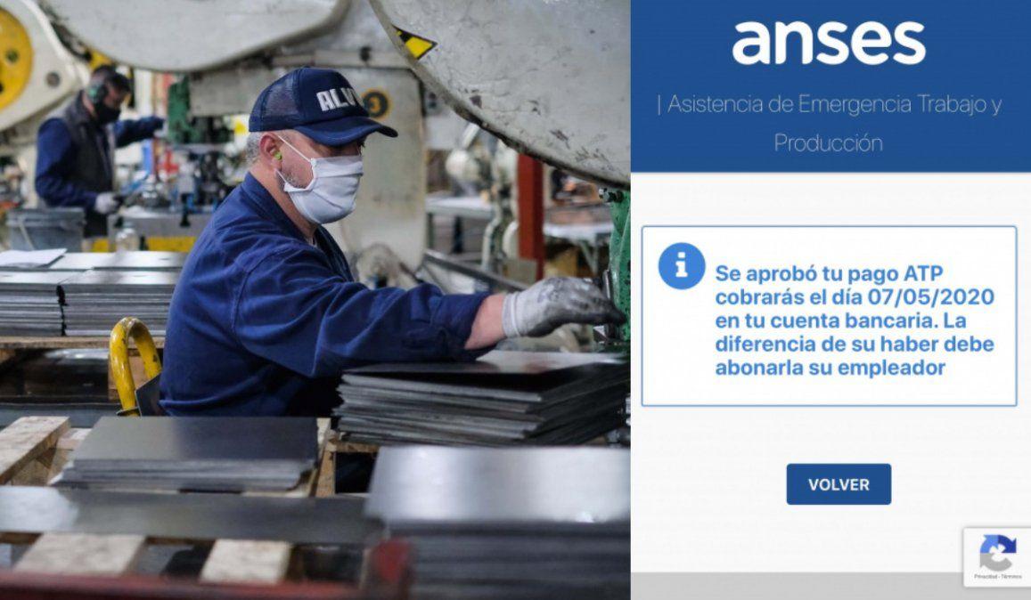 El gobierno aprobó el séptimo ATP para los sueldos de octubre