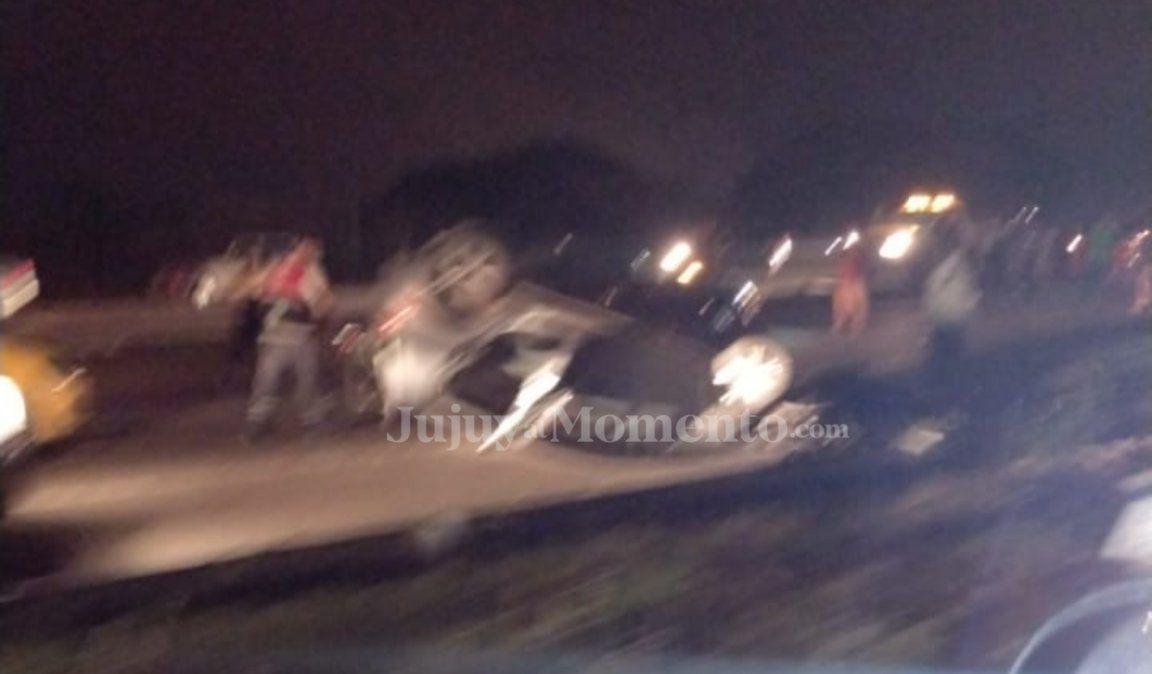 Choque en Ruta 66: El accidente fue ocasionado por dos motochorros que iban en contramano