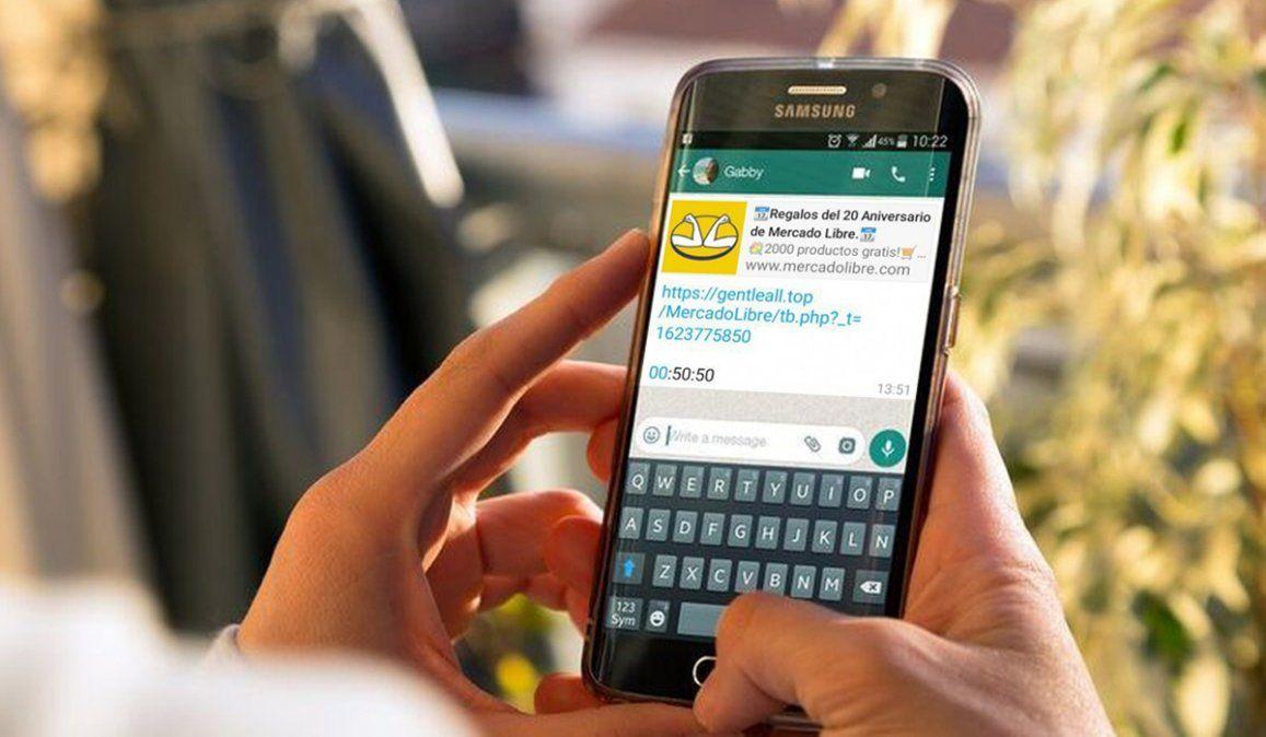 ¡Alerta! El sorteo de Mercado Libre que circula por WhatsApp es falso