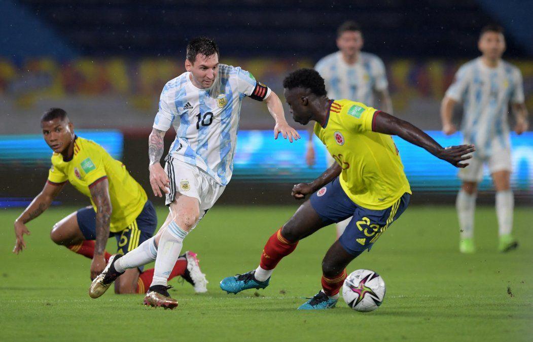 Agónico empate de Colombia ante Argentina