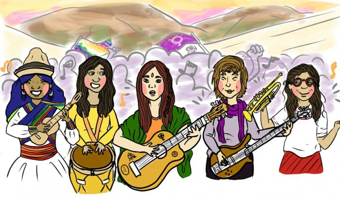 En el día de la Diversidad Cultural, músicas jujeñas estrenaron Patria es Pueblo