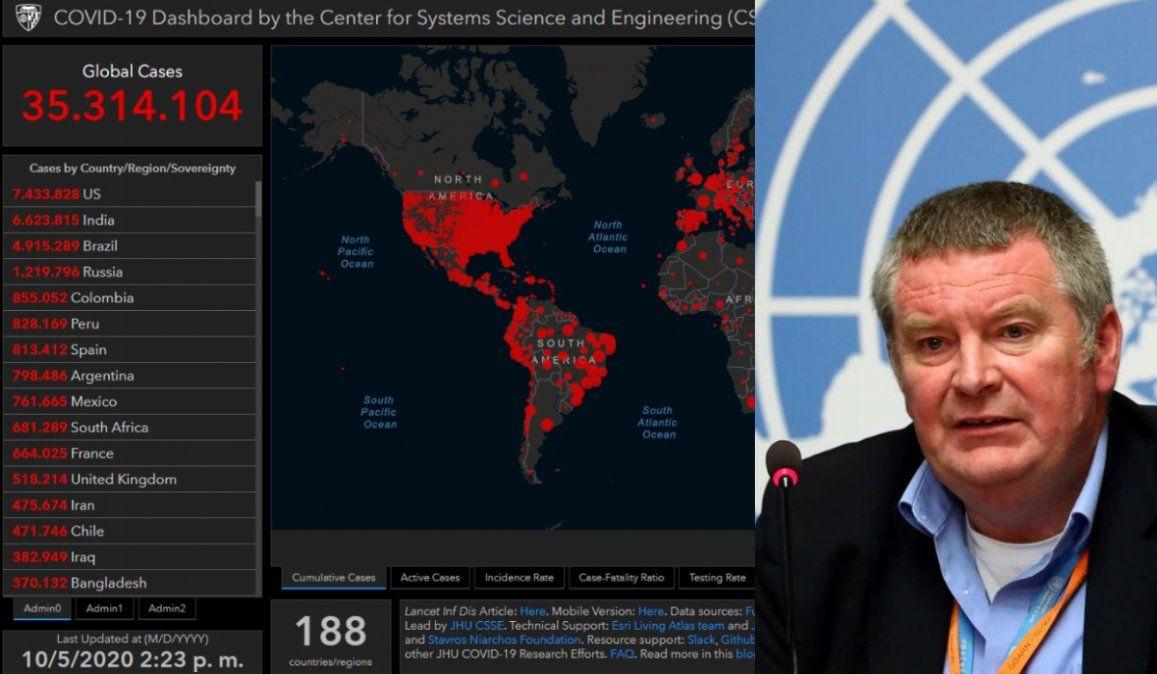 El jefe de Emergencias de la OMS afirmó que el 10% de la humanidad habría tenido el virus