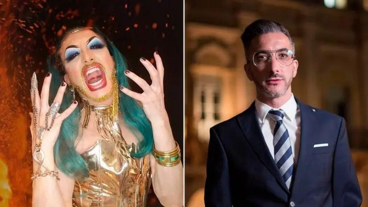 Funcionario público y drag queen: la doble vida del político salteño con tacos, peluca y barba con brillos