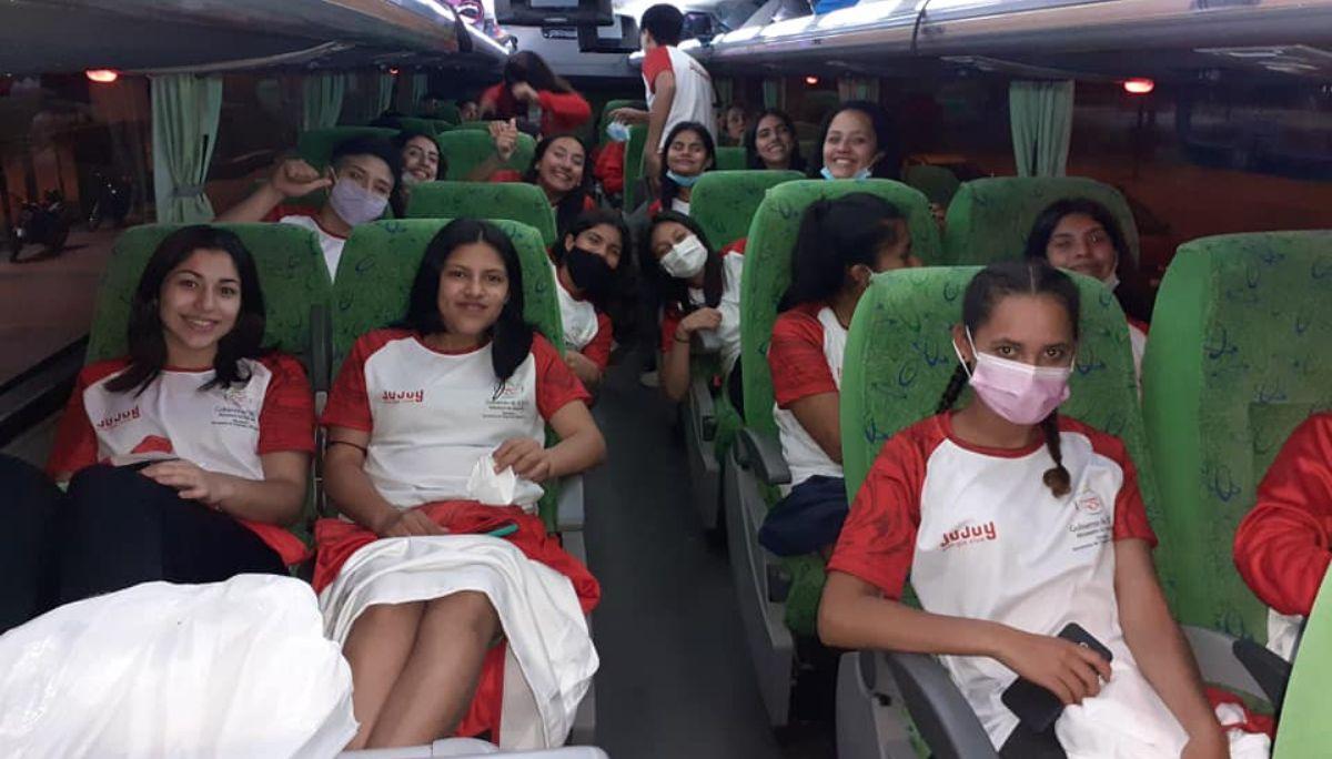 La delegación jujeña partió a La Rioja para participar de los Primeros Juegos Norte Grande