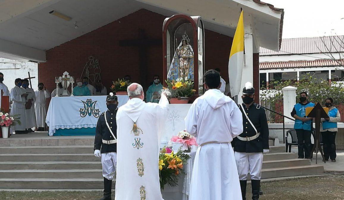 De una manera distinta, se celebró la misa en honor a la Virgen de Río Blanco y Paypaya