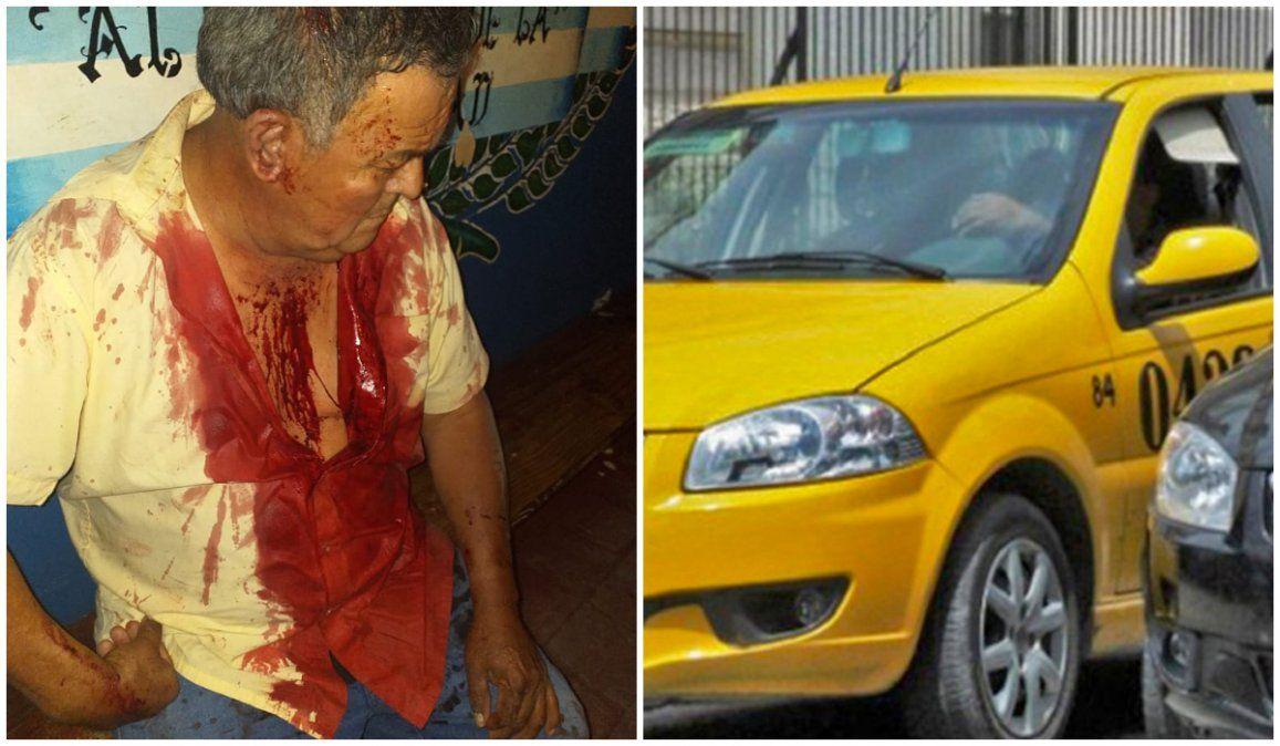 Apuñalaron en la garganta a un taxista para robarle
