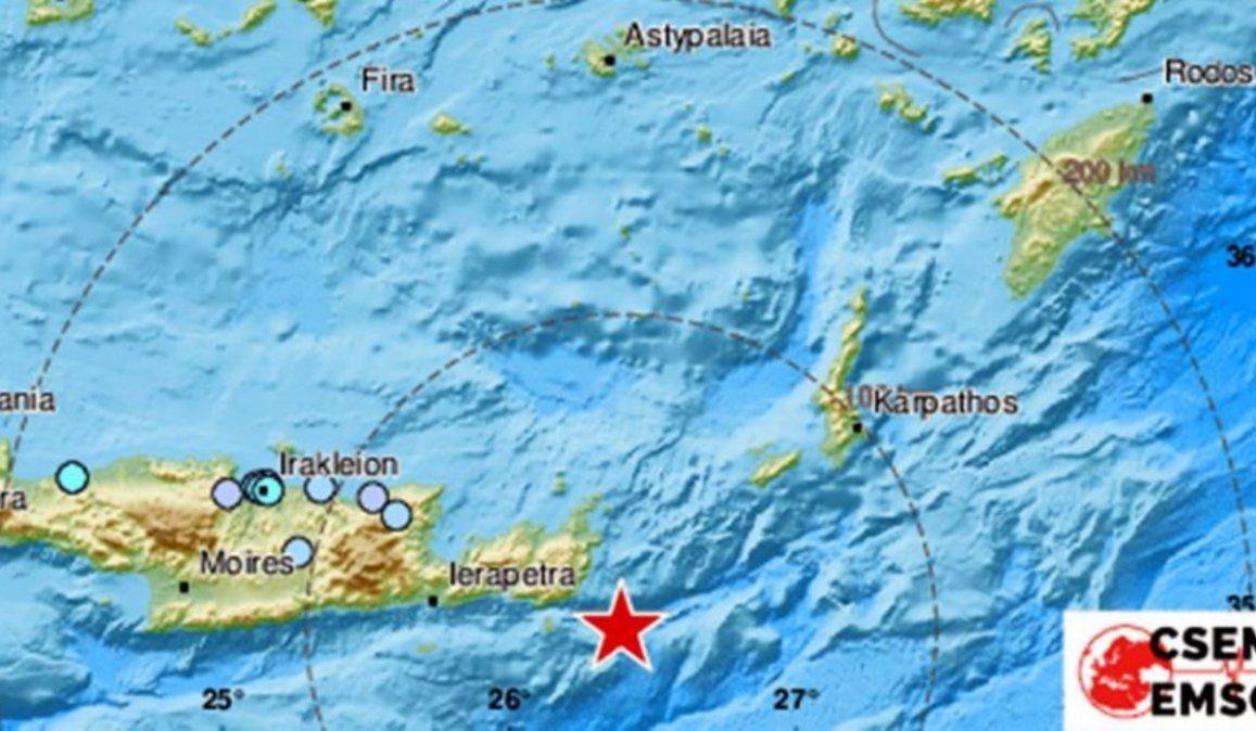 Hubo un fuerte terremoto en la isla griega de Creta, de magnitud 6,3